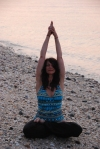 Yoga Pictures on Beach of Amy 019