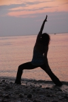 Yoga Pictures on Beach of Amy 030
