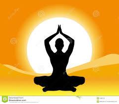 meditation yellow