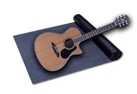 guitar and yoga mat