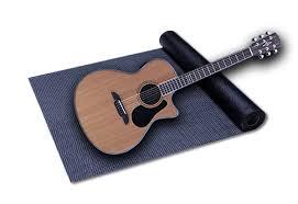 guitar and yoga mat
