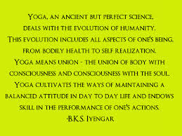 Iyengar on yoga
