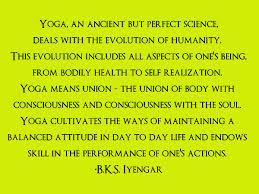 Iyengar on yoga