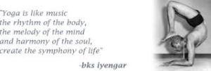 yoga is like music