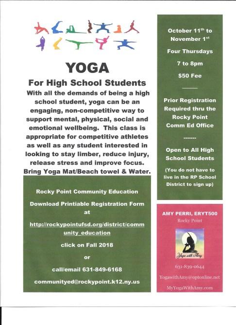 PDF Yoga for High School 2018